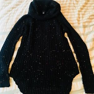 Rue 21 Black & Rainbow Speckles Cowl Sweater -MED